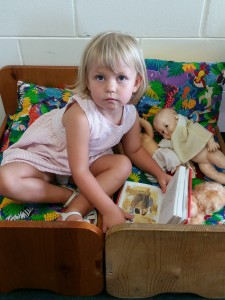 Bethany Reading to babies